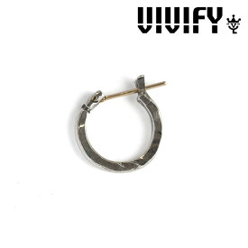 VIVIFY(ヴィヴィファイ)k18goldpost Hammered Hoop Pierce(S)【オーダーメイド受注生産】【キャンセル不可】【VIVIFY フープピアス】【シルバー ゴールド】【VFP-116】