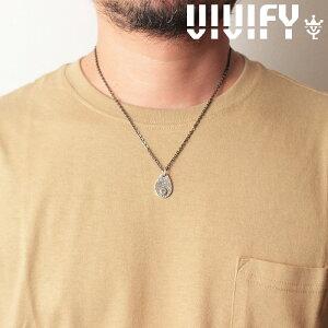 VIVIFY(ヴィヴィファイ)(ビビファイ)Texture TeardropPlate PendantHead/ Logo【オーダーメイド 受注生産】【キャンセル不可】【VIVIFY ペンダントヘッド】【VFN-274】