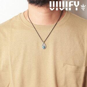 VIVIFY(ヴィヴィファイ)(ビビファイ)Texture TeardropPlate PendantHead/ Old Native Style Stone【オーダーメイド 受注生産】【キャンセル不可】【VIVIFY ペンダントヘッド】【VFN-278】
