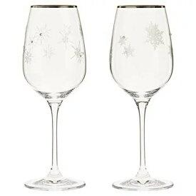 【NARUMI(ナルミ) GLASS WORKS】 スノー&スター ペアワイングラス