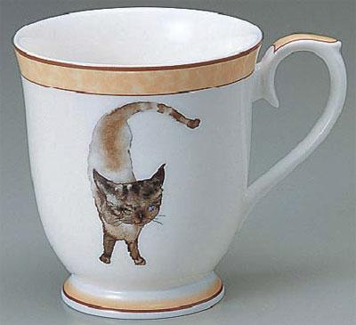 【NARUMI(ナルミ) いわさきちひろ】マグ「碧い目の黒猫」 【ギフト・贈り物・婚礼引出物・内祝い・出産内祝い・内祝】【楽ギフ_包装】【楽ギフ_のし宛書】