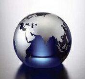 NARUMI(ナルミ) GLASS WORKS アワードオーナメント ブルーアース(ブルーM) 【ギフト・贈り物・婚礼引出物・内祝い・出産内祝い・内祝】【楽ギフ_包装】【楽ギフ_のし宛書】