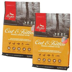 【30%OFF】Orijen オリジン キャット&キティ 子猫から高齢猫まで 1.8kg×2袋【送料無料】【オリジンランクアップキャンペーン】[肉の日/セール/猫/総合栄養食/プレミアムフード]