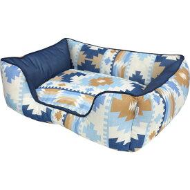 [Mサイズ]接触冷感 スクエア ベッド SB-98 M ブルー(春夏用)[セール/SALE/小型犬/小型犬/中型犬/犬/猫/ペット/オシャレ/ネイティブアメリカン/大阪杉本]