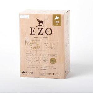 北の極 総合栄養食 EZO 1kg[4900308007793/ドッグフード/鹿肉/セミモイスト/成犬/小型犬]