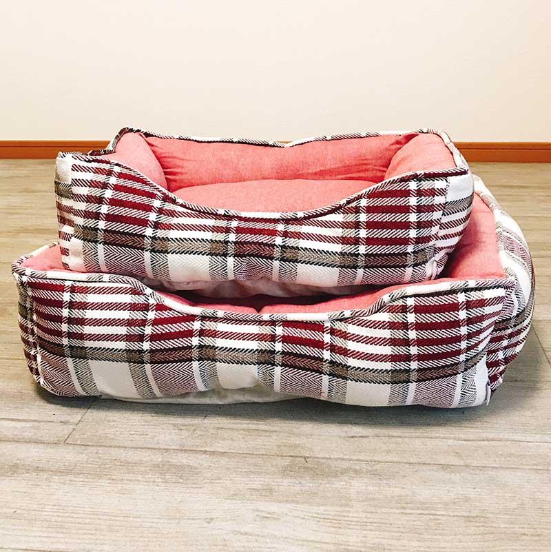 【SALE】【犬・猫 ベッド】スクエア ペットベッド SB-69 S レッド(オールシーズン)