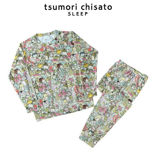 [ワコール]tsumori chisato SLEEP(ツモリチサト)パイルpt ハッピーフェイス 上下セット【wacoal】【ルームウェア・ナイティ・パジャマ】【404】【n】【nt】【4s】【t】【】