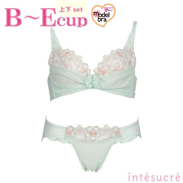 ●●[intesucre]Model bra(モデルブラ)ローブブラセットBCDEカップ【pb14s】【Lサイズショーツも選べるブラセット】【4s】【t】【】