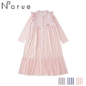【30%OFF】ナルエー narue ベア天 シアストライプ ワンピース 全3色 M-L 20-11002