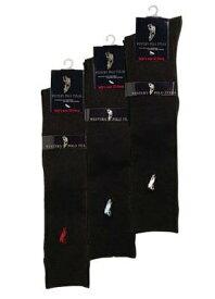 POLO 6足組 ポロ レディース ハイソックス 黒 ブラック ブランド 靴下 セット 婦人ソックス 6足セット ソックス 22〜24cm レディース 送料無料 まとめ買い