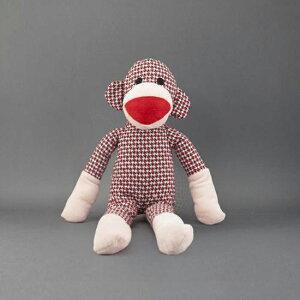 NANDOG(ナンドッグ) ぬいぐるみ 織物モンキーレッド アメリカのペット用品専門店NANDOG。お部屋のインテリアにもなる可愛くて愛嬌のあるおもちゃです。 日本製 犬 服 おうち時間