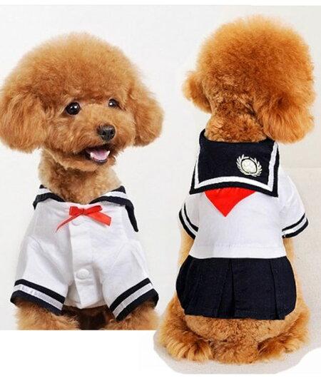 犬服・セーラー服・小型犬用・コスプレ・コスチューム・ダックス