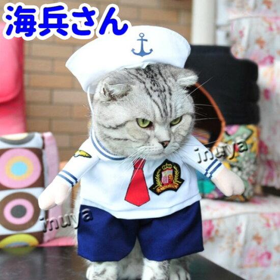 コスプレ・コスチューム・犬・猫・服・洋服・変身・仮装・海兵・アメリカ
