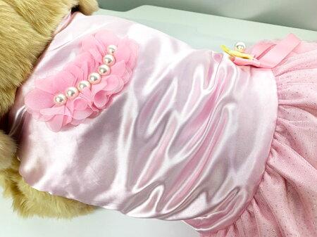 犬服フリルフリフリワンピースドレスパール小型犬春夏