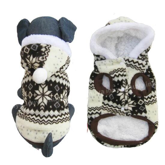 犬服セーターフード付きノルディックセーター防寒秋冬新作
