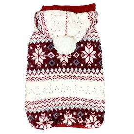 【アウトレット】 【 ノルディック 裏ボア パーカー 】 小型犬 厚手 もふもふ 暖かい セール ペット 洋服 おしゃれ