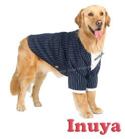 アウトレット 犬服 タキシード ストライプ 青 中型犬 大型犬 フォーマル 春夏秋冬 HOOPET ブランド 犬屋