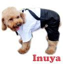 犬服 【タキシード ロンパース】 フォーマル 小型犬 襟 リボン 春 夏セール ペット 洋服