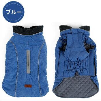 柴犬・ゴールデンレトリバー・ジッパー・犬服・秋冬・ダウン・ベスト・防寒・ドッグウェア