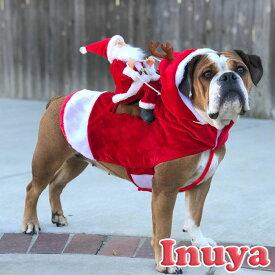 【 サンタ ロデオ 】 犬 冬服 フリース ふわふわ トナカイ 父の日 母の日 コスプレ 秋 中型犬 猫服 グッズ 暖か パーティー お出かけ服 サンタクロース ペット 洋服 おしゃれ