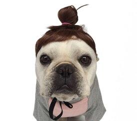 犬用 カツラ かつら ウィッグ 女の子用 おさげ キャップ 帽子変身 かぶりもの 犬屋