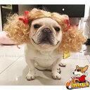 犬用 カツラ かつら ウィッグ 女の子用 金髪 キャップ 帽子変身 かぶりもの ヘアアクセサリー