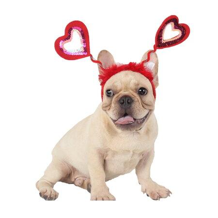犬・猫・ヘアバンド・カチューシャ・ハート・かつら・犬用・キャップ・帽子・グッズ・パグ・フレンチブルドッグ・仮装