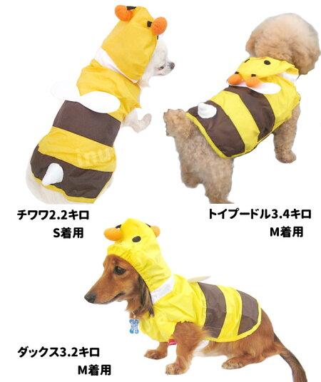 犬・レインコート・コスプレ・変身・コスチューム・蜂・ハチ・はち・大型犬