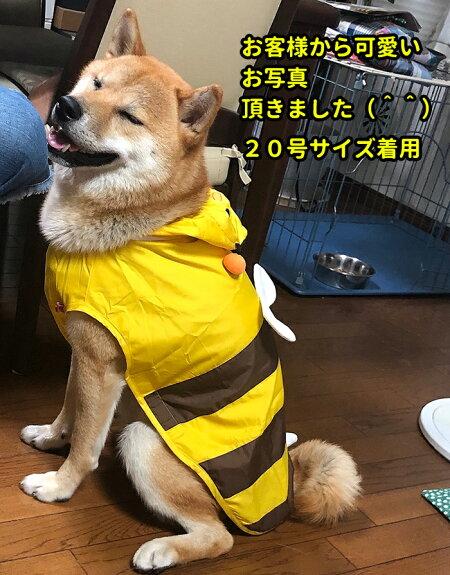中型犬コスチュームはち蜂コスプレ春夏秋冬用簡単雨具カッパハロウィンハチasonpet