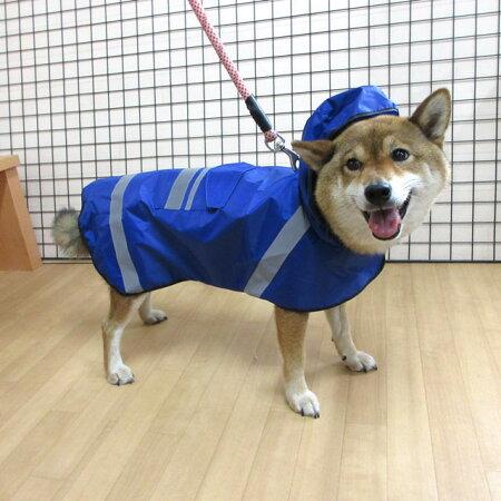 犬屋オリジナル軽量レインコートポーチ付き犬軽量中型犬大型犬防水雨具カッパペット春夏秋冬簡単犬屋