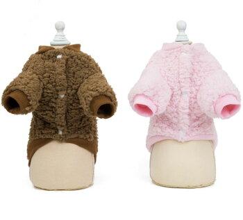 【フェイクレザーダウン】防寒暖かいトイプードルマルチーズチワワ秋冬小型犬中型犬犬屋革ペット洋服
