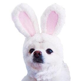 超小型犬 猫用 うさぎ耳 帽子 【 犬 キャップ かぶりもの コスプレ 小型犬 ウサギ 】 グッズ 犬屋 トイプードル チワワ など かぶり帽 送料無料