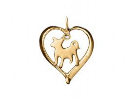 柴犬 ドッグシルエット 18金 ゴールド モチーフ ネックレス ケース付き メンズ レディース ペット 犬 愛犬家 箱 ドッグネックレス 可愛い クリスマス 送料無料