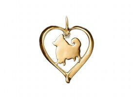 ポメラニアン ドッグシルエット 18金 ゴールド モチーフ ネックレス ケース付き メンズ レディース ペット 犬 愛犬家 箱 ドッグネックレス 可愛い クリスマス 送料無料