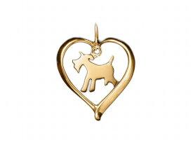 ミニチュア シュナウザー ドッグシルエット 18金 ゴールド モチーフ ネックレス 送料無料 ケース付き メンズ レディース ペット 犬 愛犬家 箱 ドッグネックレス 可愛い