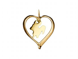 コーギー ドッグシルエット 18金 ゴールド モチーフ ネックレス レディース シンプル 送料無料 アクセサリー 雑貨ケース付き メンズ レディース ペット 犬 愛犬家 箱 ドッグネックレス 可愛い