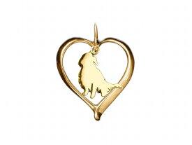 ゴールデンレトリバー ドッグシルエット 18金 ゴールド モチーフ ネックレス レディース シンプル 送料無料 アクセサリー 雑貨ケース付き メンズ レディース ペット 犬 愛犬家 箱 ドッグネックレス 可愛い
