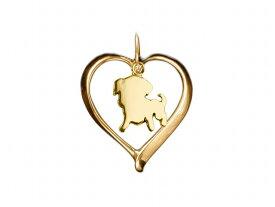 パグ ドッグシルエット 18金 ゴールド モチーフ ネックレス レディース シンプル 送料無料 アクセサリー 雑貨ケース付き メンズ レディース ペット 犬 愛犬家 箱 ドッグネックレス 可愛い