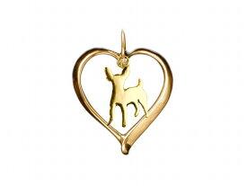 ミニチュアピンシャー ドッグシルエット 18金 ゴールド モチーフ ネックレス レディース シンプル 送料無料 アクセサリー 雑貨ケース付き メンズ レディース ペット 犬 愛犬家 箱 ドッグネックレス 可愛い