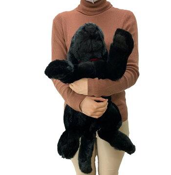 ぬいぐるみ犬黒ラブラドールレトリバーMサイズ45cm