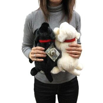 吉徳製ぬいぐるみ犬黒ラブラドールレトリバーSSサイズ26cm