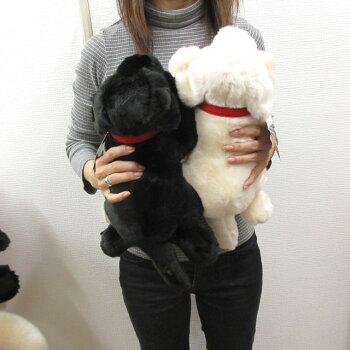 ぬいぐるみ犬黒ラブSサイズ33cm(人形の吉徳製)