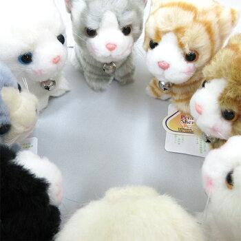 鈴付き猫のプチシェリー座ぬいぐるみ雑貨ギフトプレゼント母の日ミニ