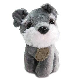 【あす楽】 ミニチュアシュナウザー 灰 ぬいぐるみ 座り 犬 おもちゃ 小型犬 父の日 母の日 ギフト プレゼント 犬屋