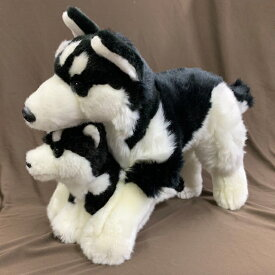 【あす楽】 シベリアンハスキー 親子セット ぬいぐるみ 犬 おもちゃ バレンタイン ホワイトデー ギフト プレゼント 犬屋