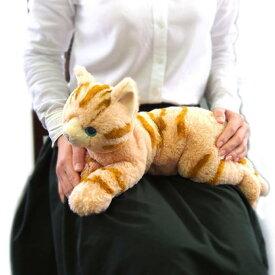 ひざねこ Mサイズ 猫 茶 ぬいぐるみ (アメリカンショートヘア キジトラ) サンレモン 雑貨 犬屋