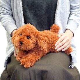 【あす楽】 ひざわんこ 犬 ぬいぐるみ 【プードル 茶】 サンレモン 雑貨 母の日 ギフト プレゼント 犬屋