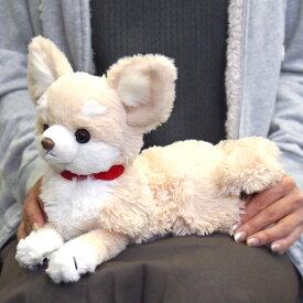 【あす楽】 ひざわんこ 犬 ぬいぐるみ 【チワワ クリーム】 サンレモン 雑貨 母の日 ギフト プレゼント 犬屋