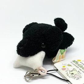 ぱっくんCLUB ストラップ ラブラドールレトリバー 黒 7cm 雑貨 マスコット 癒し グッズ 犬屋