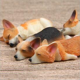 コーギー ネムネム マグネット 7.8cm 2個セット 置物 インテリア 犬 各種 雑貨 グッズ ポリレジン 犬屋
